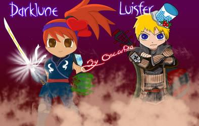 Darklune and Luisfer by oscarinhox