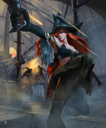 Miss Fortune fan art - League of legends by hoanghung161093