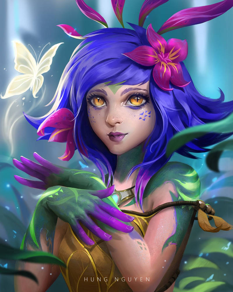 Neeko - League of Legends fanart! by hoanghung161093