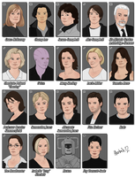 12 Eighth Doctor characters by harbek