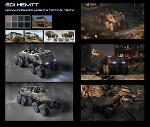 HEMTT Vehicle Conept by steve-burg