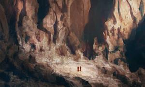 Canyon Sketch by steve-burg