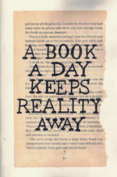 Typography #2 | A Book A Day Keeps Reality Away by fungostine