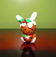 'Figgy Puddin' Bunny' in Clay by nightmares-or-dreams