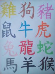 Chinese Zodiac Signs by Artmachband196