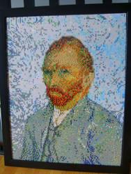Van Gogh bead portrait by ShampooTeacher