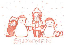 Snowmen by Silly-Blue