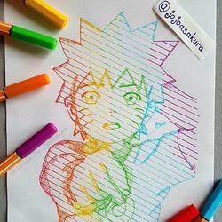 [ Rainbow Naru ] by JoJoAsakura