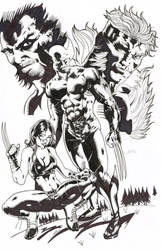 wolverine and family by johndinc