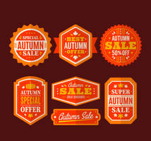 7 Exquisite Autumn Promotional Label Vector Materi by FreeIconsdownload