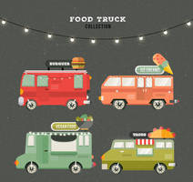 4 Food Truck Vector Collection by FreeIconsdownload