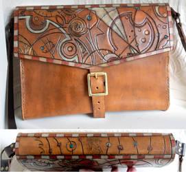 Old Circular Gallifrey Steam Bag by Archanejil
