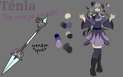 ~Tenla the school  mage~ [ref] by foxythepirate290