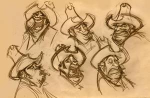 cowboy exp sketch by ahmettabak