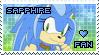 Sapphire the Hedgehog Stamp by Karmarsi-Kedamoki