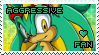 Aggressive the Hedgehog Stamp by Karmarsi-Kedamoki
