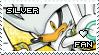 Silver the Hedgehog Stamp by Karmarsi-Kedamoki
