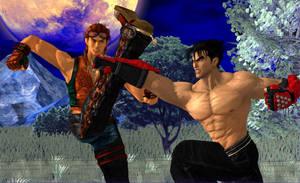 Tekken 5 - Hwoarang's Rival by LarsJunFan