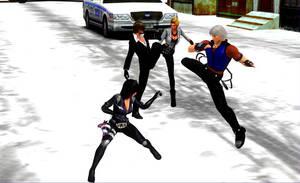 Fight in the streets by LarsJunFan