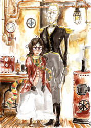 Portrait vapeur by pers-shime
