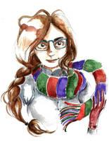 Portrait d'Ophelie - aquarelle by pers-shime