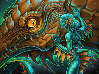 tamed reptile by Firell