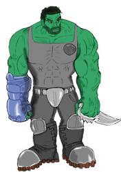 Hulk the Heavy Hitter by Hippy282 by Hippy282