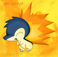 HGSS - Cyndaquil by chibitracy