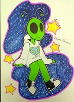 Art Trade: Cute Alien by CraziePanda32