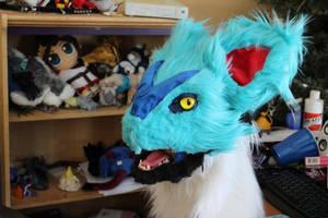 Shiny Noivern Fursuit Head WIP by BlueEyes9