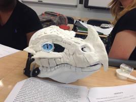 Even Moar Sculptering! - Frost dragon mask by BlueEyes9