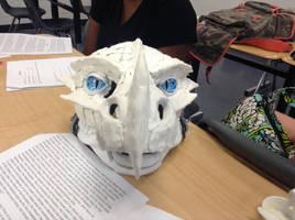 Even Moar Sculptering! - Frost dragon mask 2 by BlueEyes9