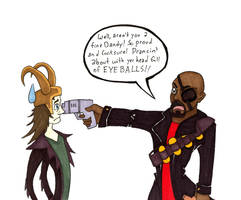 Nick Fury is Demoman? by Allison-beriyani