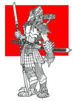 Dragon Samurai Pred by DementedInk