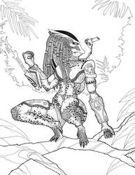 Predator on the Ready by DementedInk