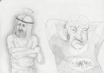 Drinkin Jesus n Mr. Martirio by Chuaga