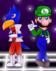 RQ: Falco and Luigi by Nunkinz1000