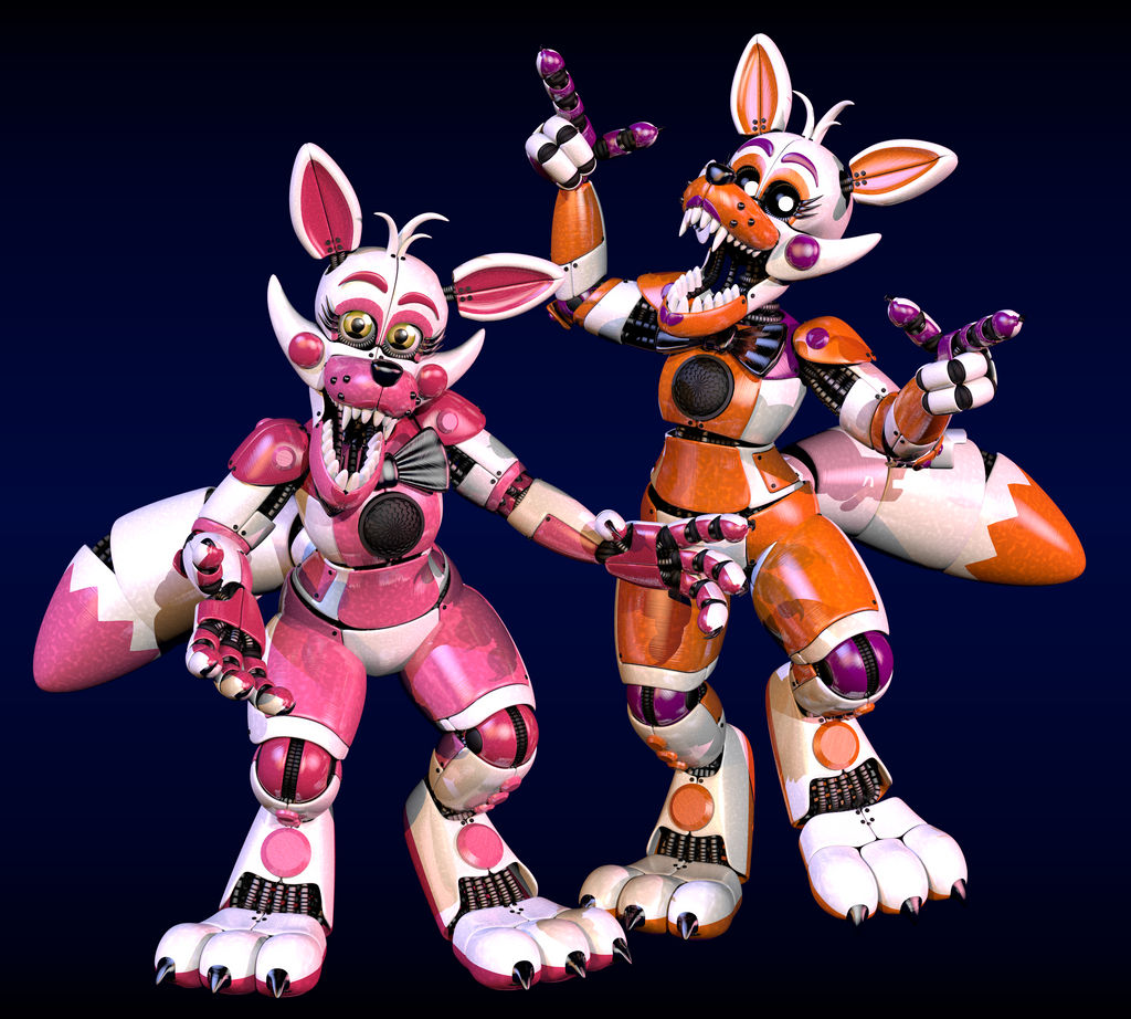 Stylized Funtime Foxy And Lolbit By Morigandero On DeviantArt