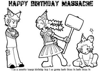 Happy Birthday Massacre by konno