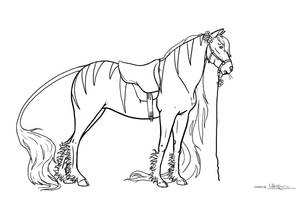 Horse creature Lineart 3 by whynotastock
