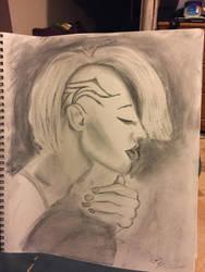 Ashley Martelle Speed Sketch by kreativemente