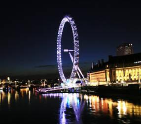 London Eye at night 1 by Raah-man