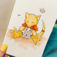 Abra and Togepi by semiko