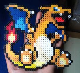 Charizard Pixel Bead Art by Gragola