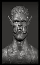 creature portrait sculpt by ali-tunc