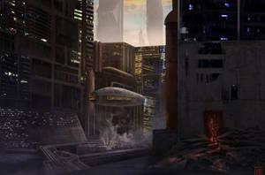 Quecchan Cityscape Concept Commission - Egodrift by Solfour