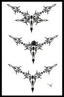 Gothic Lace Tattoo Splash 002 by Quicksilverfury