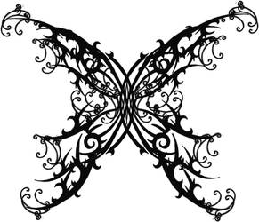 Gothic Butterfly Tattoo by Quicksilverfury