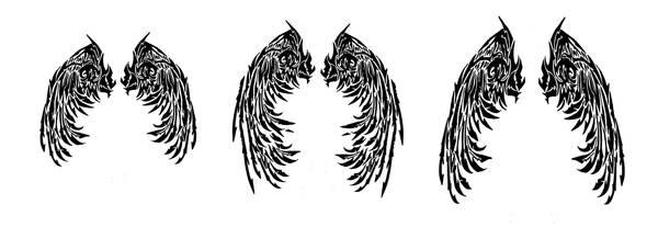 Tribal Angel Wings Tattoos By Quicksilverfury On Deviantart