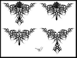 Gothic Tribal Rose Tattoo LB by Quicksilverfury